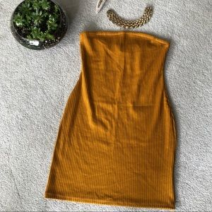 Mustard Tube Mini Dress